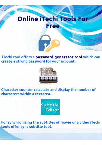 Online itechi tools for free by marywilliams - issuu