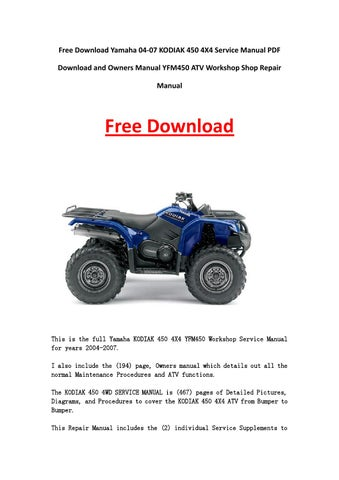 2016 yamaha kodiak 700 service manual