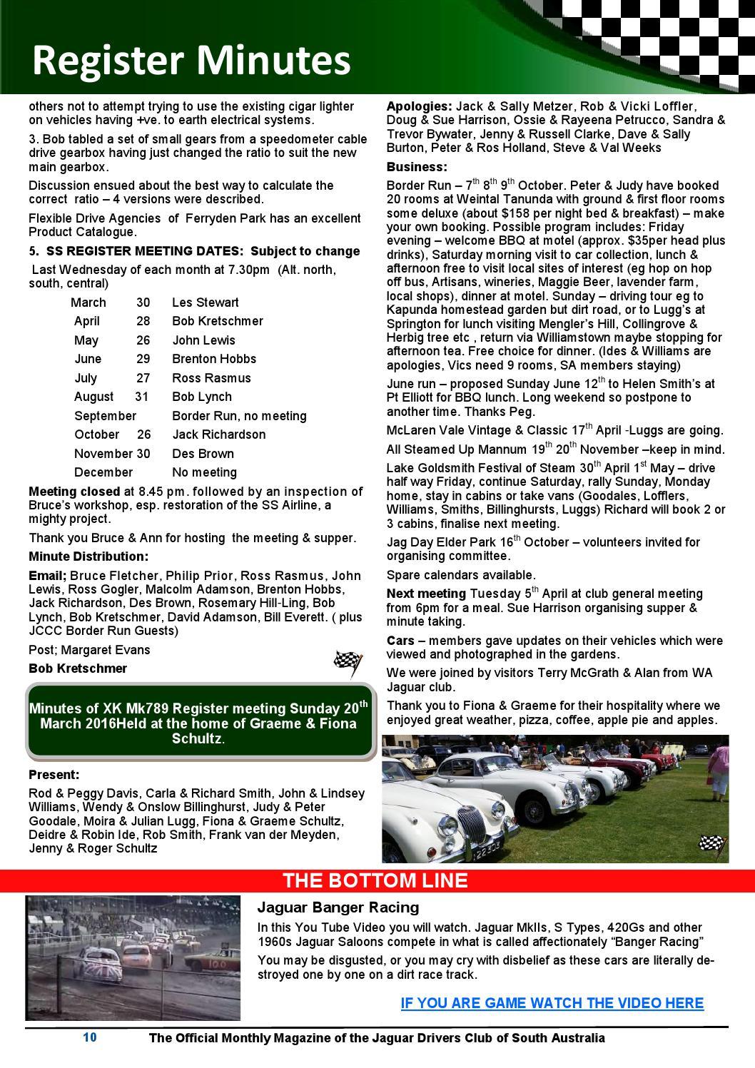 Classic marque april 2016 web by Jaguar Drivers Club of SA