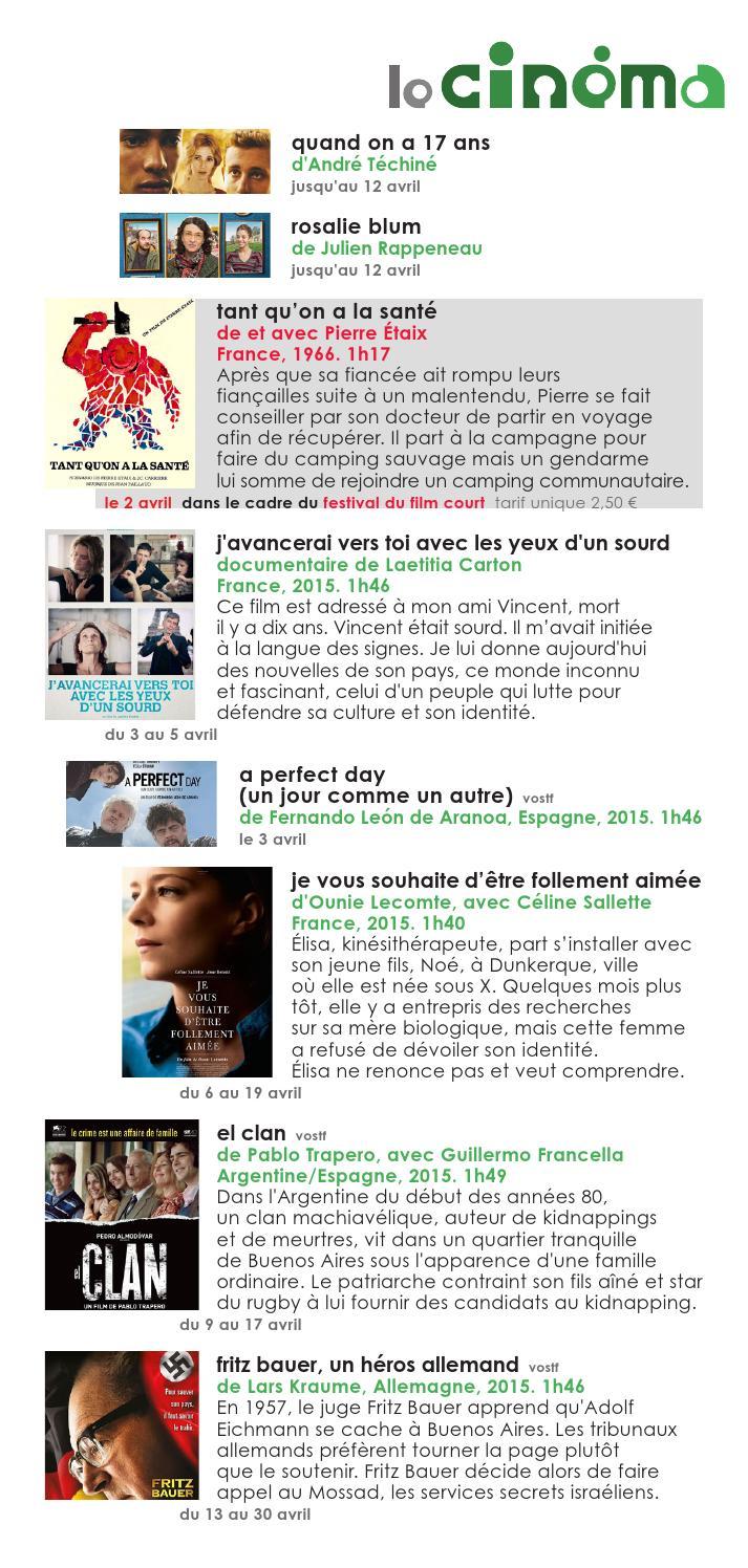 0104 Au 3004 2016 By Association Des Cinémas De Louest
