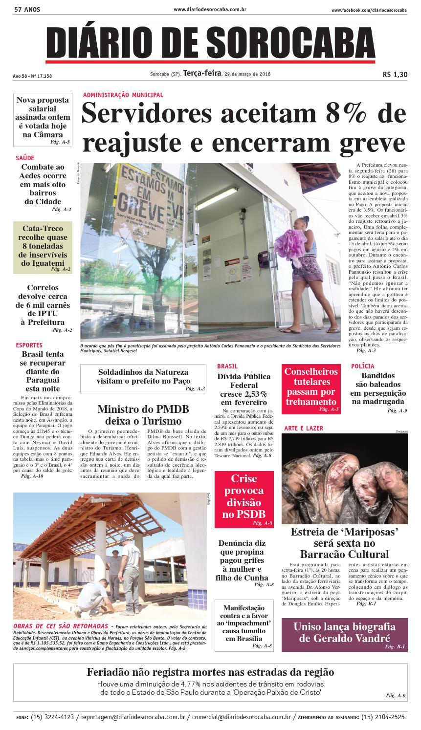 Edição de 29 de março de 2016 by DIÁRIO DE SOROCABA - issuu ee3179807db