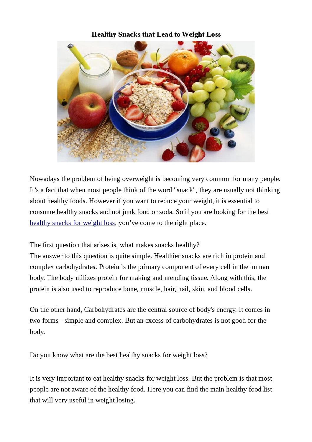 healthy snacks that lead to weight loss by healthychoicesinlife issuu