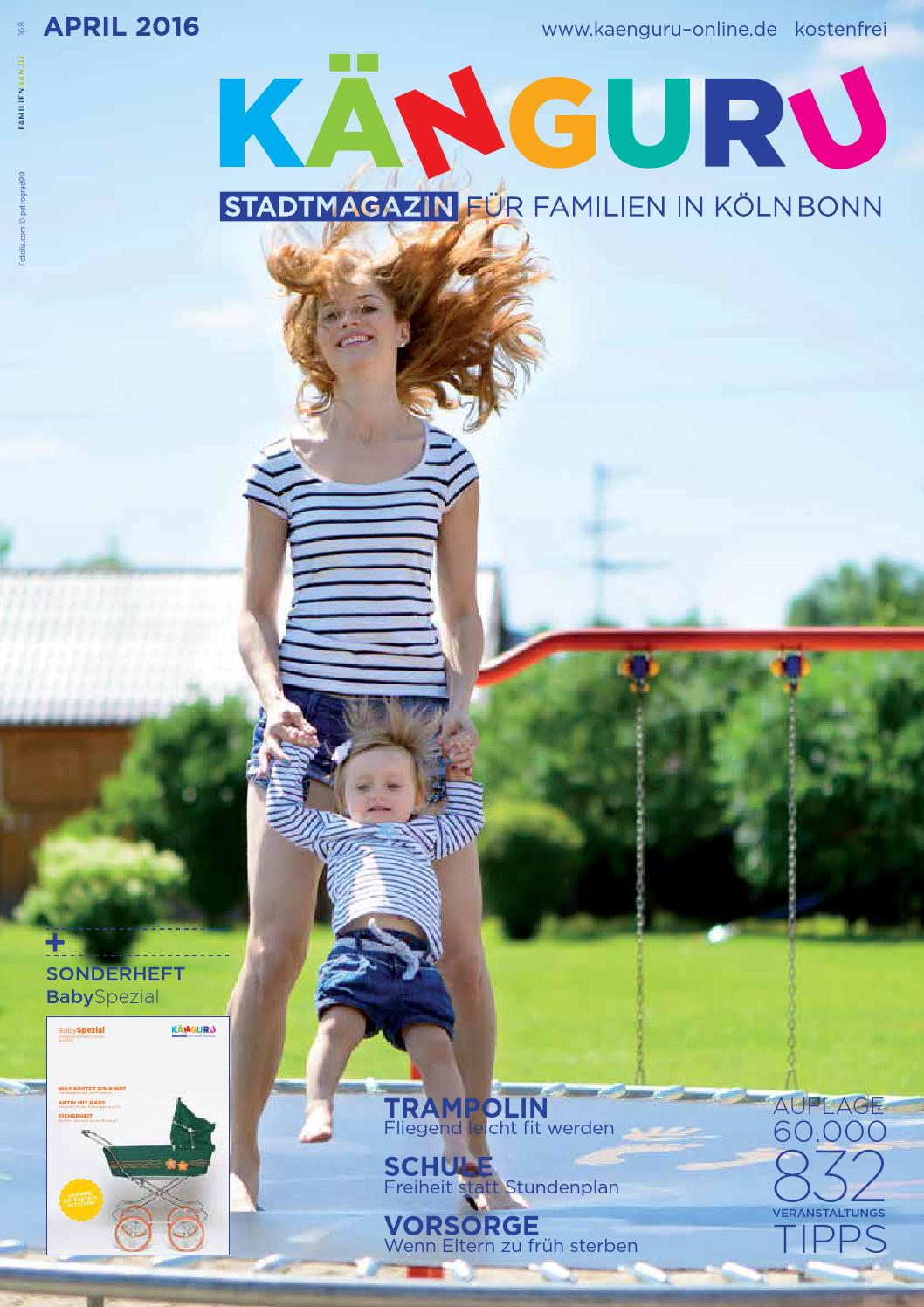 Kanguru Stadtmagazin Fur Familien In Kolnbonn April 2016 By