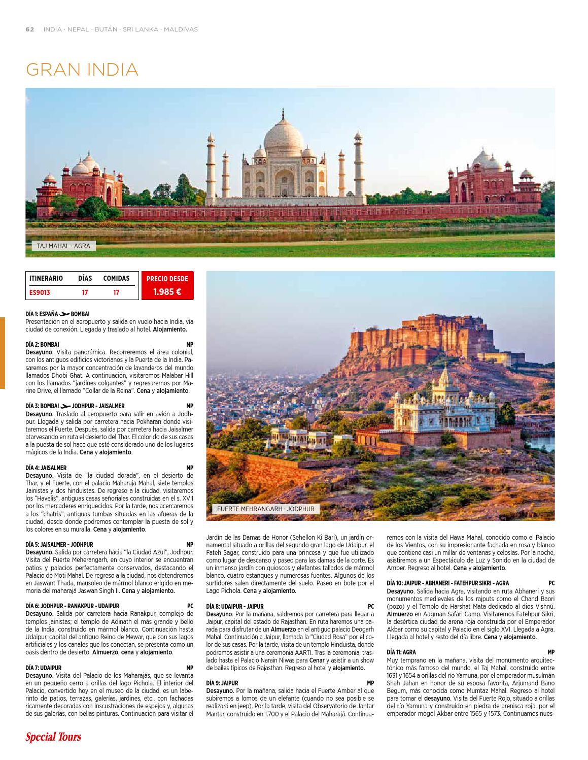 Grandes Viajes 2016 2017 Esp Completo By Special Tours Issuu