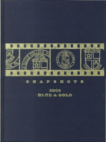 2005 Blue And Gold Yearbook By La Salle College High School   Issuu