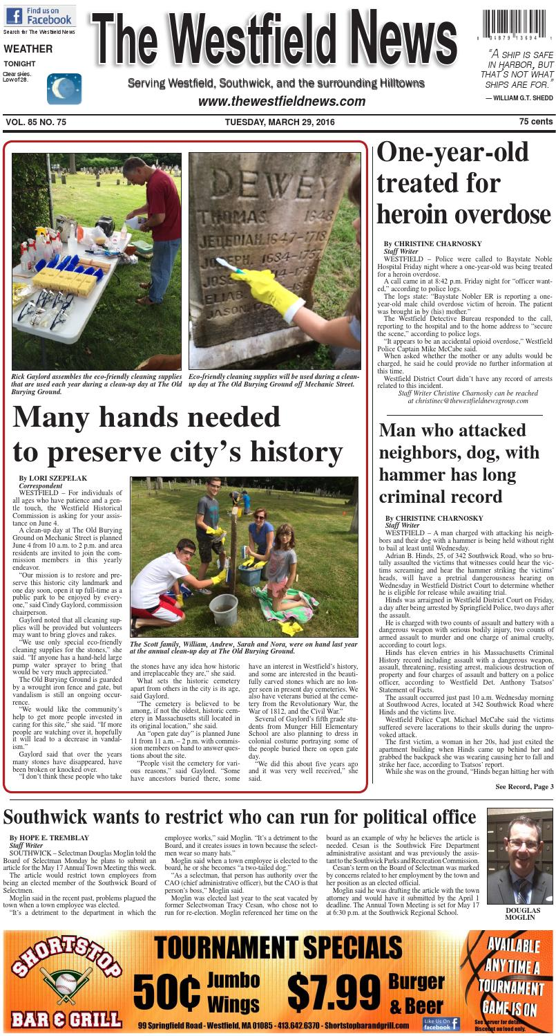 Tuesday, March 29, 2016 by The Westfield News - issuu