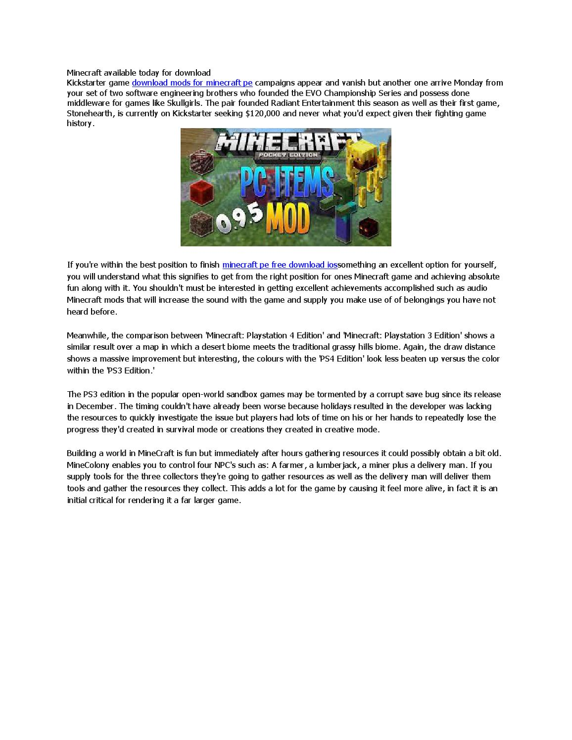 Minecraft available today for download by chanhbx - issuu