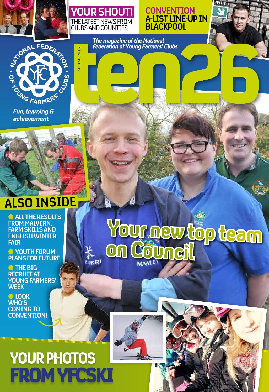 Ten26 spring 2016 by nfyfc issuu for Door 84 youth club