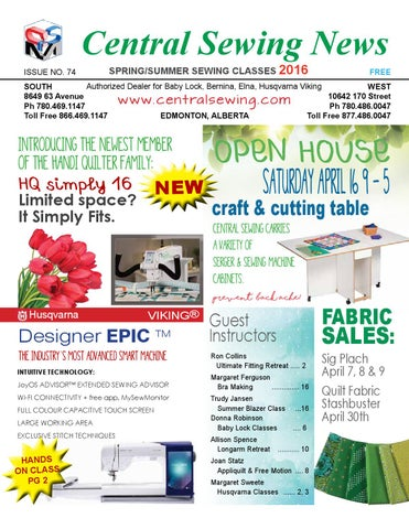 Central Sewing Newsletter 40 By Central Sewing Machines Issuu Inspiration Central Sewing Machines