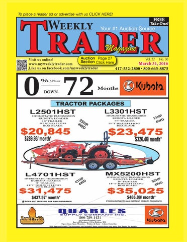 Weekly Trader March 31, 2016 by Weekly Trader - issuu on