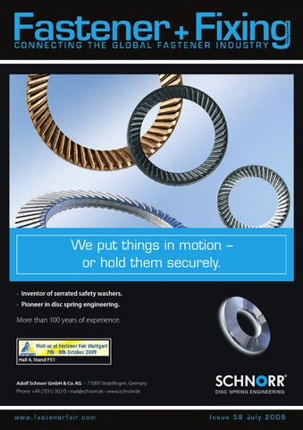 Fastener + Fixing Magazine #58 by Fastener + Fixing Magazine - issuu