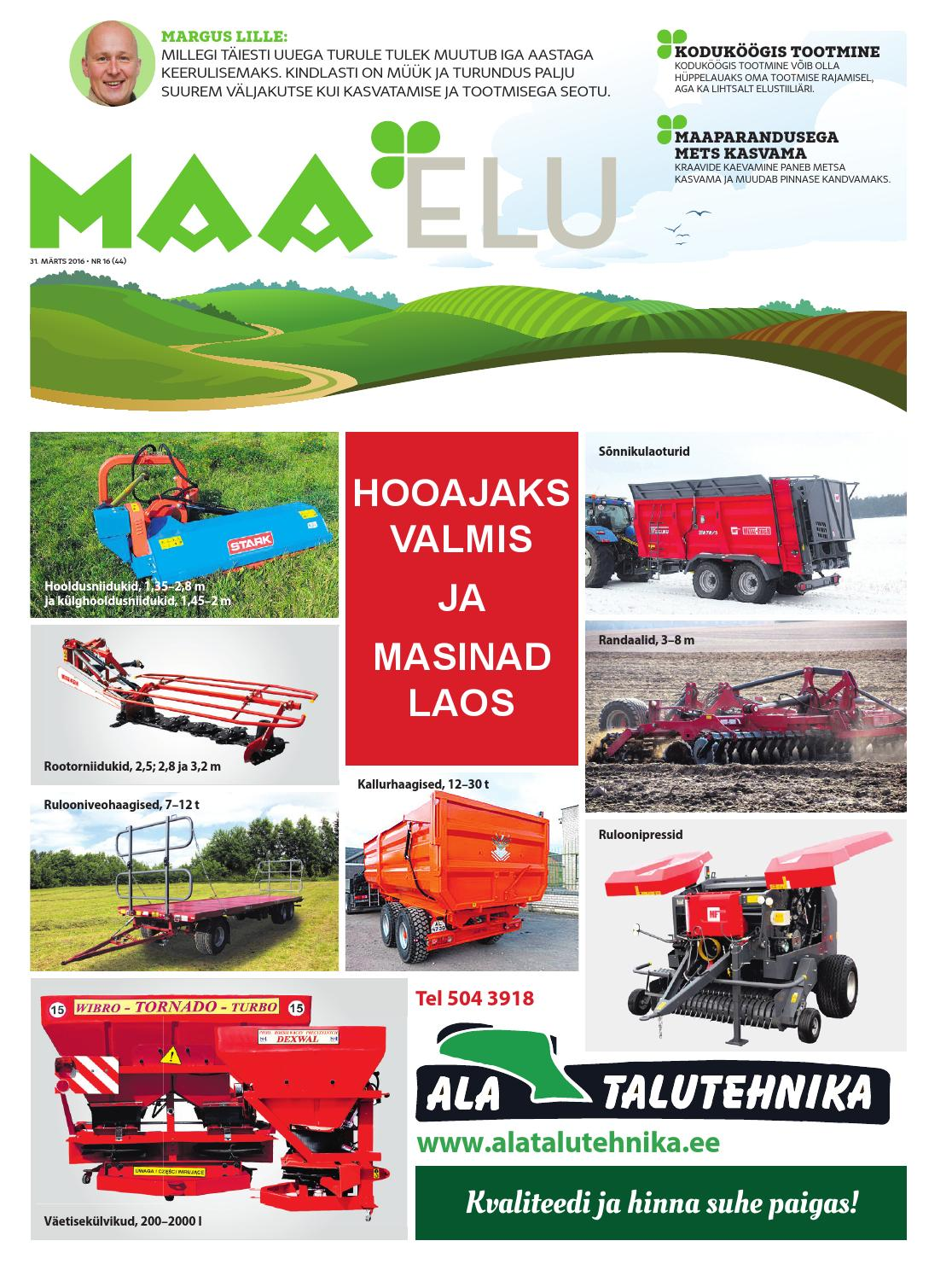 bba38ee2004 Maa Elu 31. märts 2016 by AS Eesti Meedia - issuu