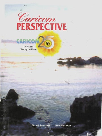 Caricom perspective, no 68, june 1998 by Caribbean Community