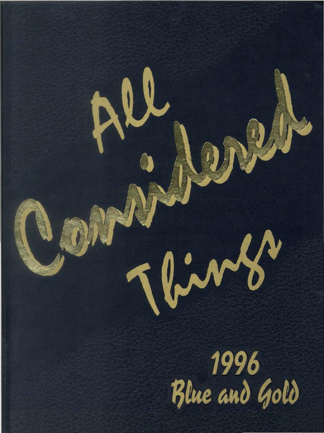 1996 Blue And Gold Yearbook By La Salle College High School