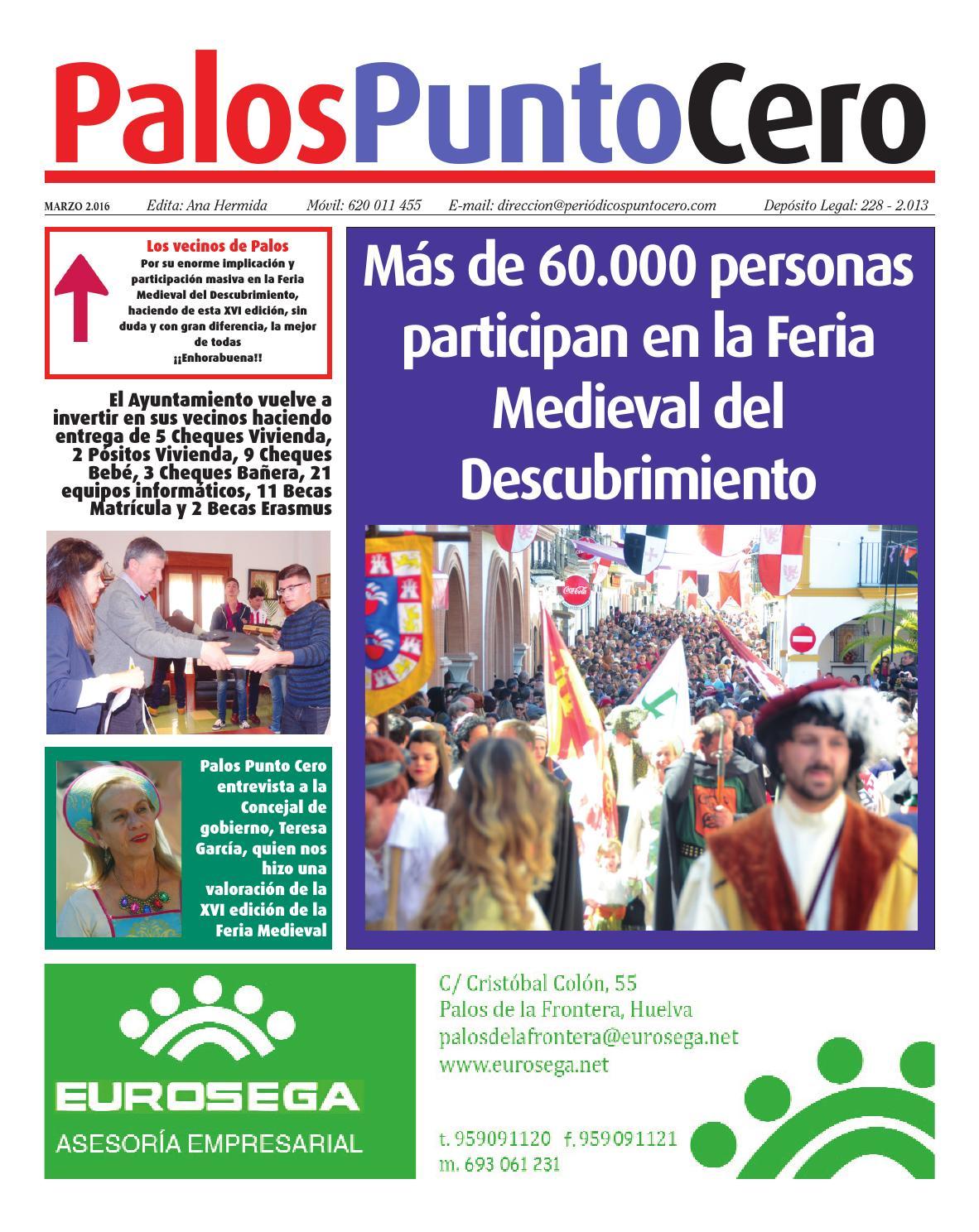 Palos Punto Cero Marzo 2016 by PERIÓDICOS PUNTO CERO - issuu