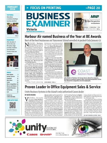 Business examiner victoria february 2016 by business examiner page 1 malvernweather Choice Image