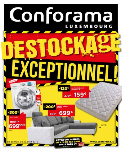 Doc 19 Destockage Exceptionnel By Conforama Luxembourg Issuu