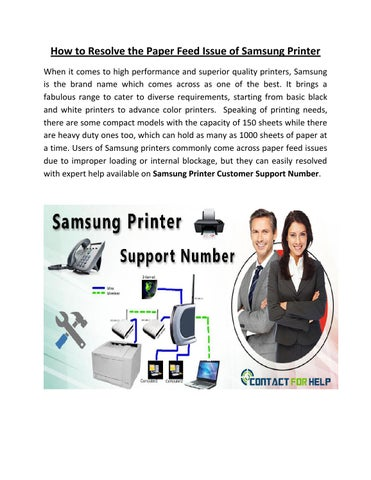 How to Resolve the Paper Feed Issue of Samsung Printer by