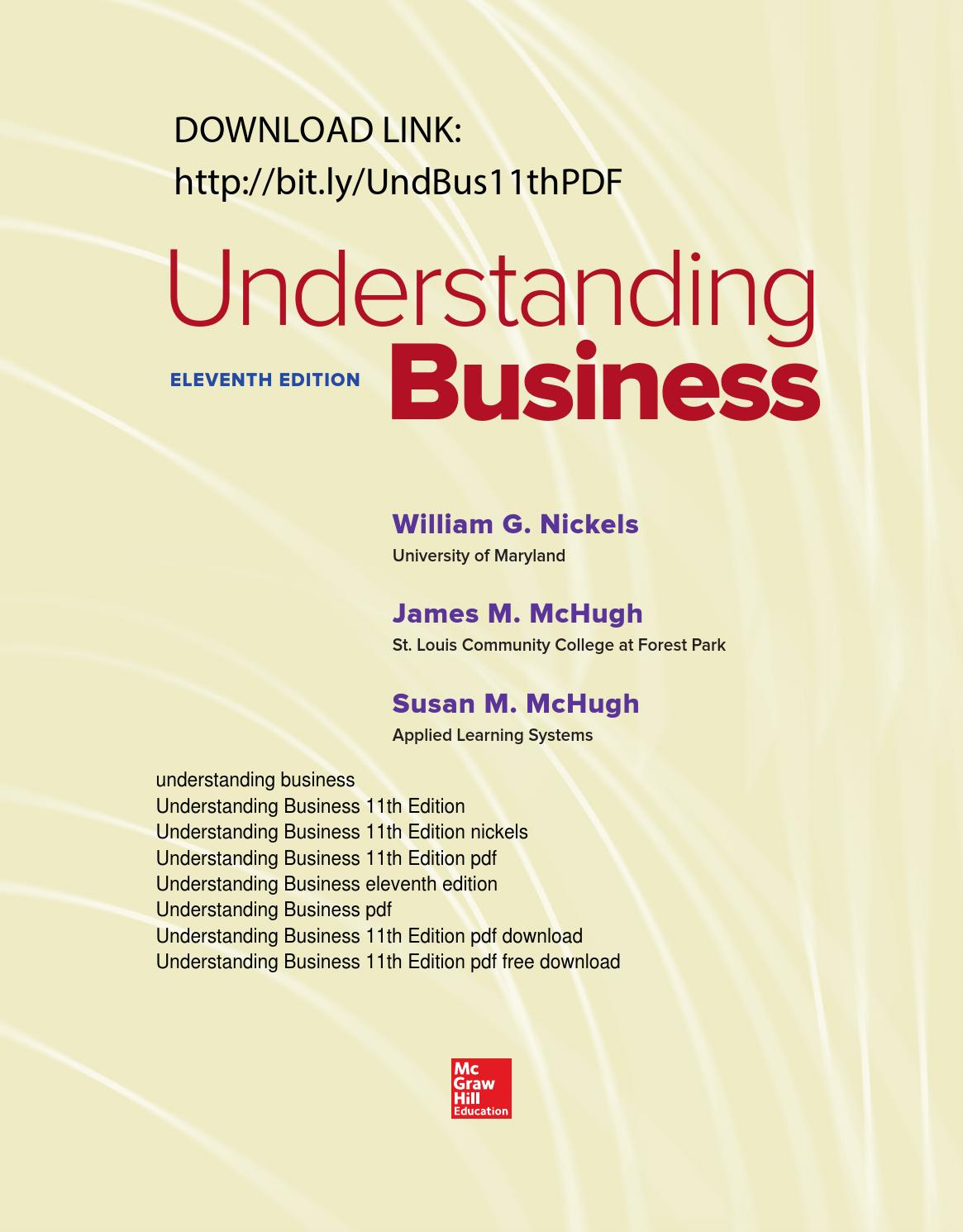 understanding business 11th edition pdf free by jessica w
