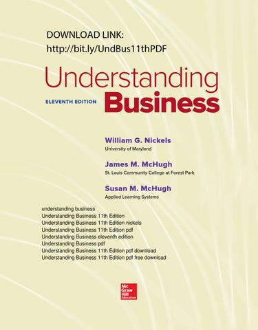 Understanding Business 11th Edition Pdf Free By Jessica W Penson