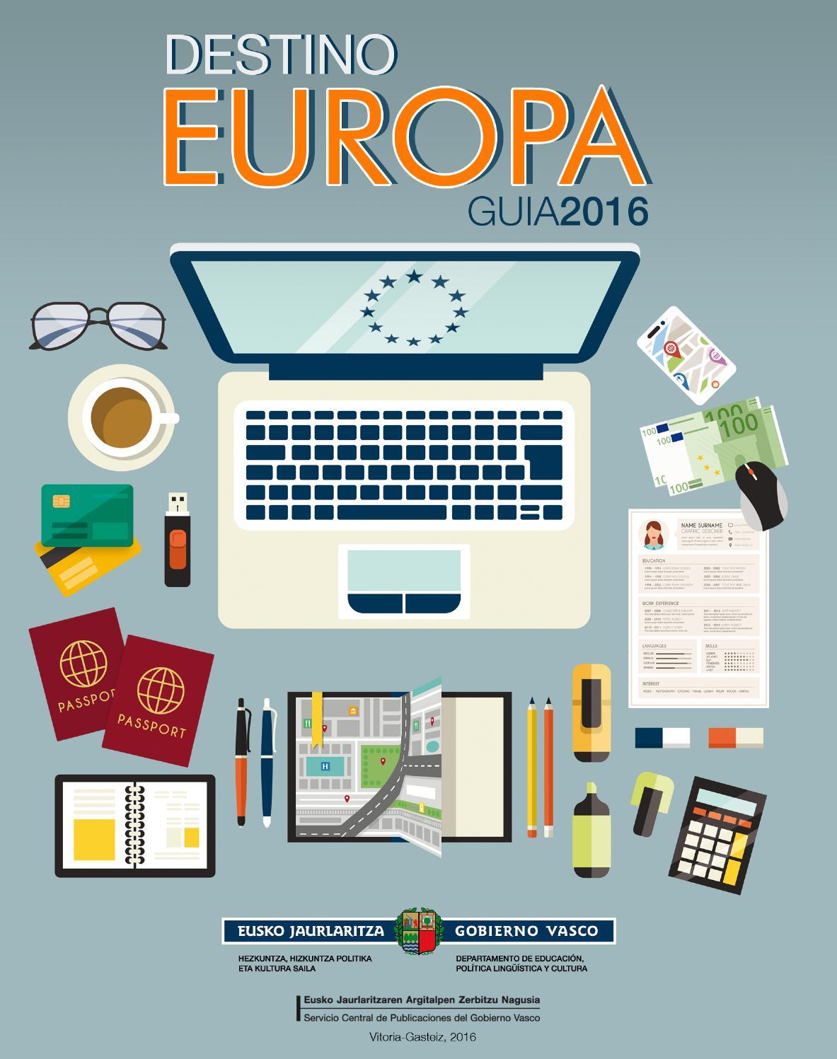 Guía \'Destino Europa\' 2016 by Gazteaukera Gazteria Zuzendaritza ...