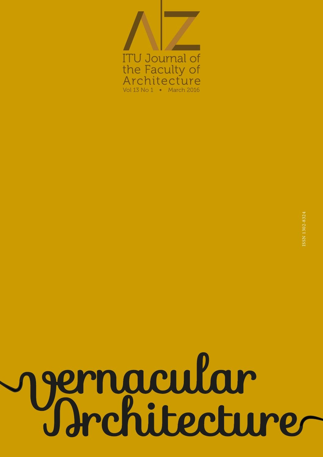 A|Z ITU Journal of Faculty of Architecture 2016-1 by LookUs
