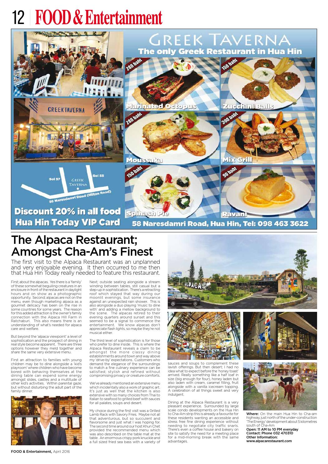 Hua Hin Today April 2016 by Hua Hin Today - issuu