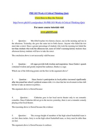 week 7 critical thinking questions psych Critical thinking draws on questions such as: show more week5 critical thinking reflection essay cango week 1 and 2 analysis essay examples.