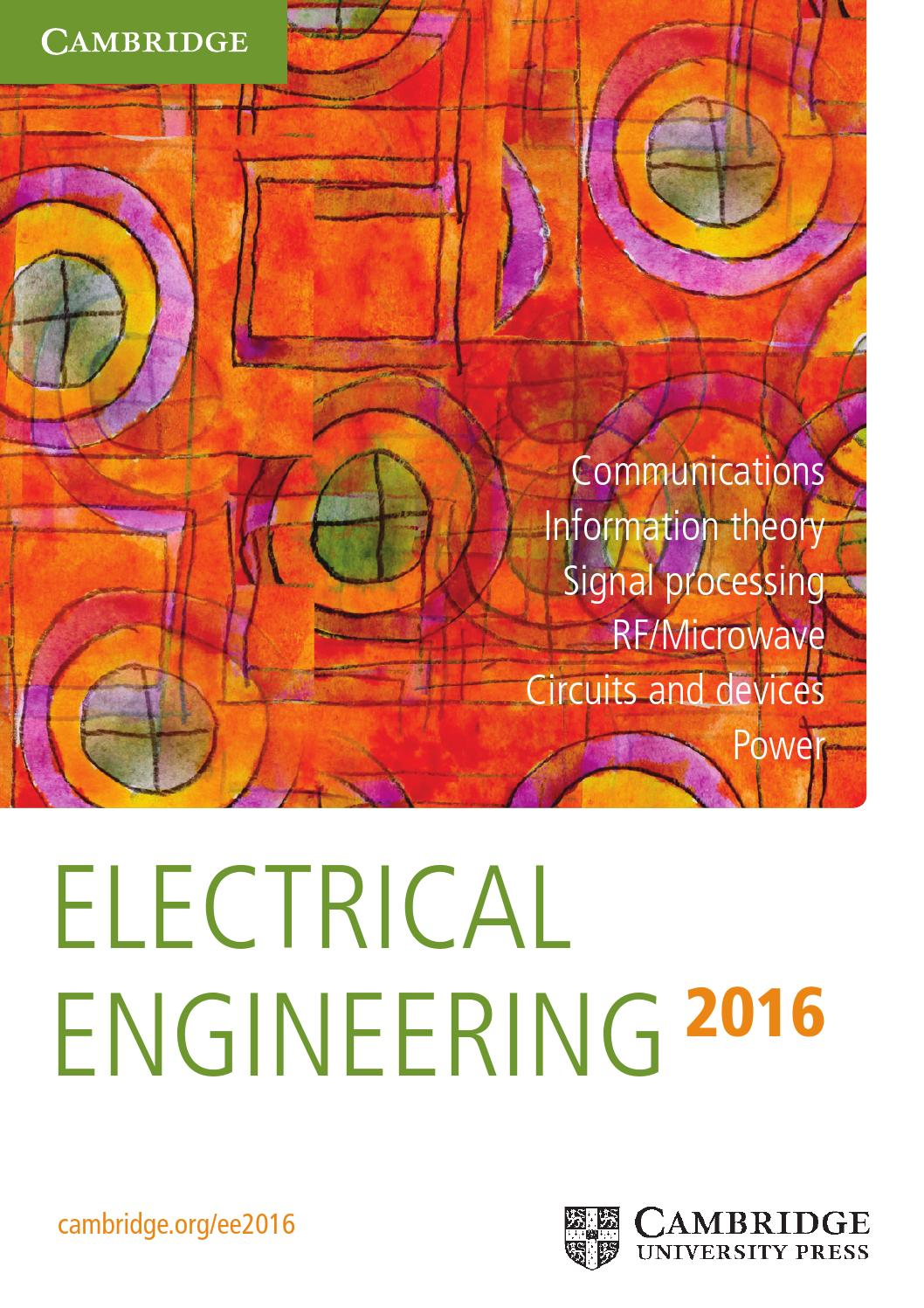 Electrical engineering catalogue 2016 by cambridge university press electrical engineering catalogue 2016 by cambridge university press issuu fandeluxe Gallery