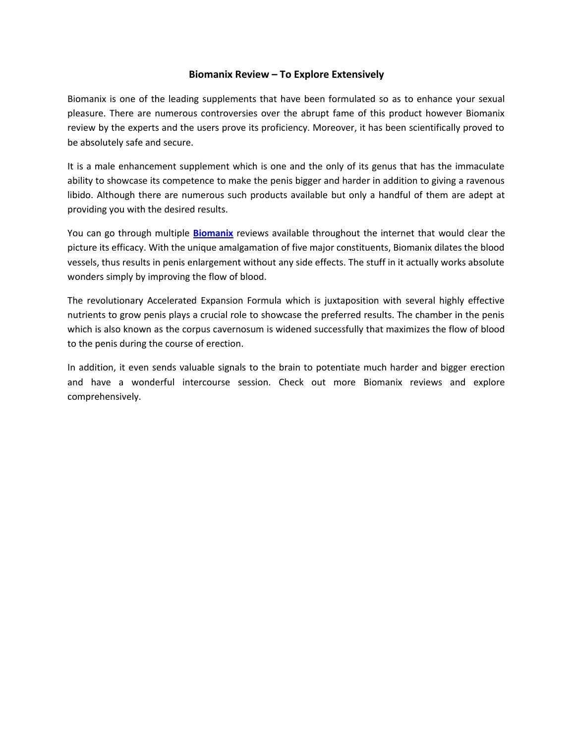 biomanix review to explore extensively by biomanixscam issuu