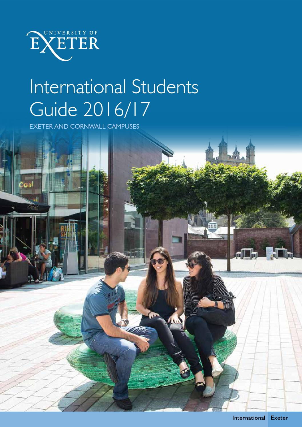 International Students Guide 201617 By University Of Exeter Issuu