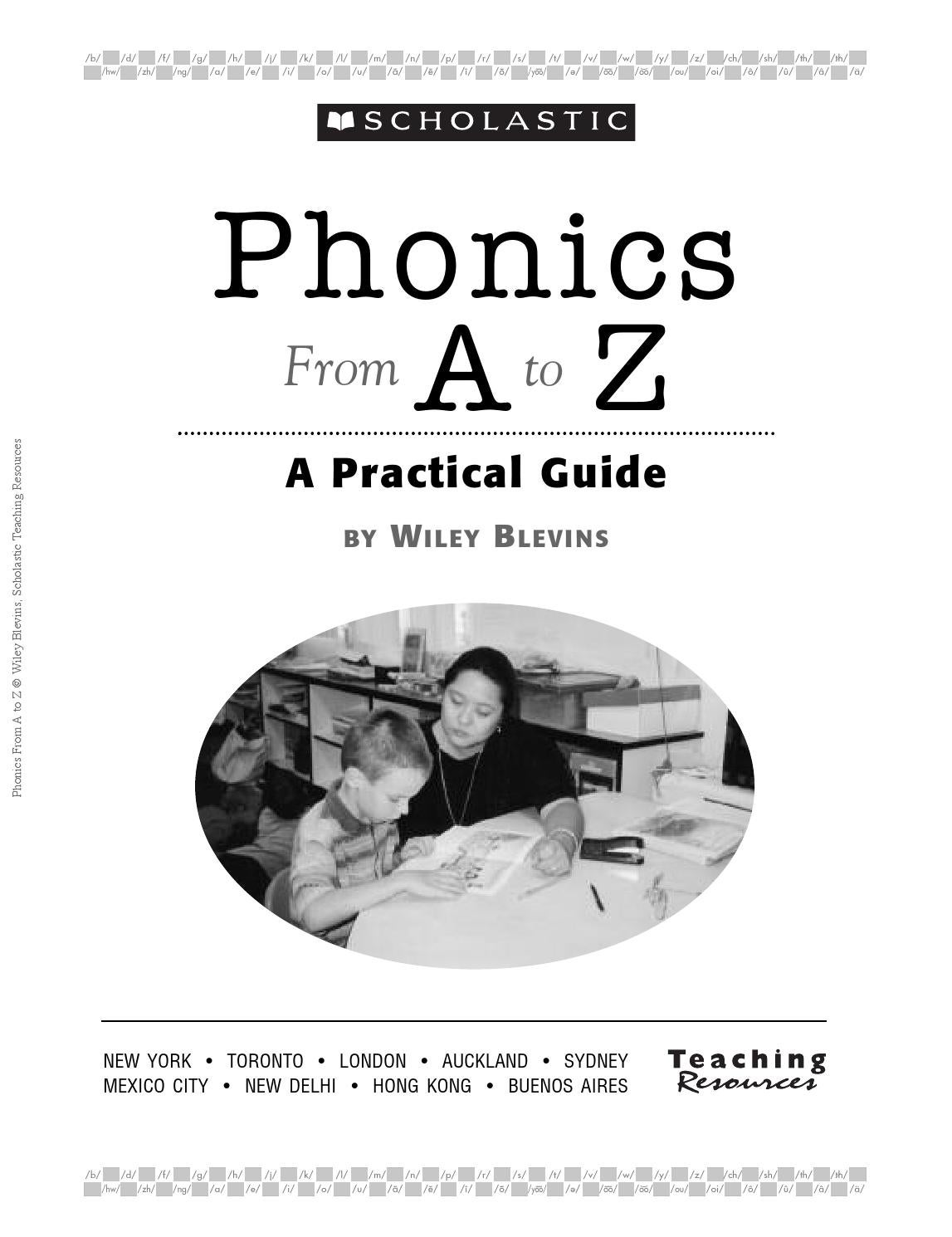 Phonics from A to Z by Wiley Blevins 1st. Edition by Allison Hall ...