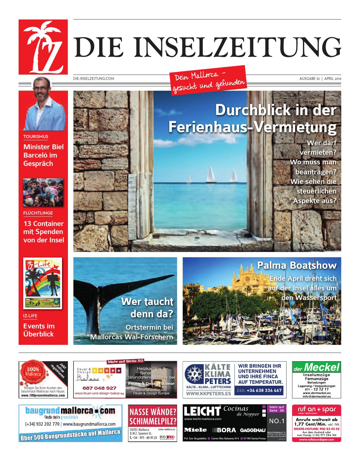 die inselzeitung mallorca april 2016 by die inselzeitung mallorca online issuu. Black Bedroom Furniture Sets. Home Design Ideas