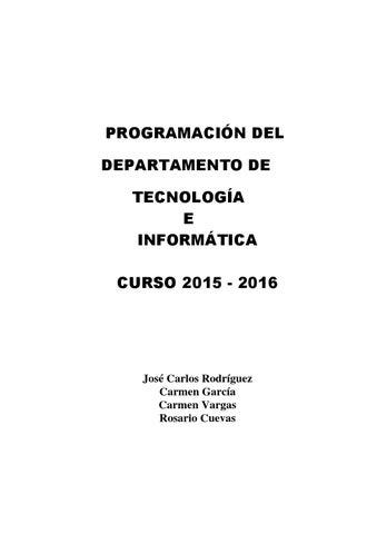 Carmen Programacion Tecnologia By García 15 16 Issuu N80kOPnXw
