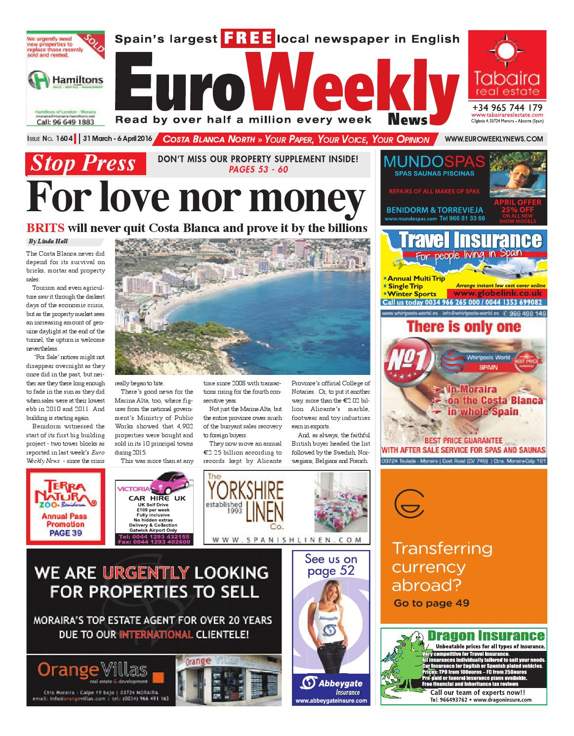 Euro Weekly News Costa Blanca North 31 March 6 April 2016  # Muebles Rogelio Nerja