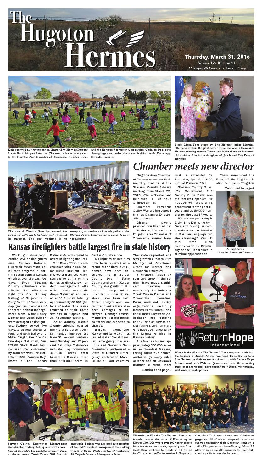 March 31, 2016 by Hugoton Hermes - issuu