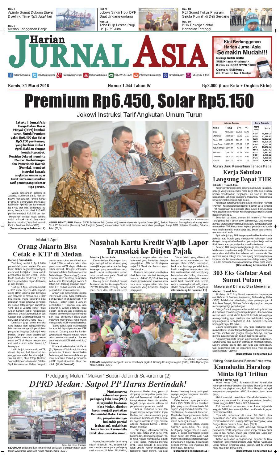 Harian Jurnal Asia Edisi Kamis 31 Maret 2016 By Produk Ukm Bumn Kain Batik Middle Premium 3 Bendera 01 Medan Issuu
