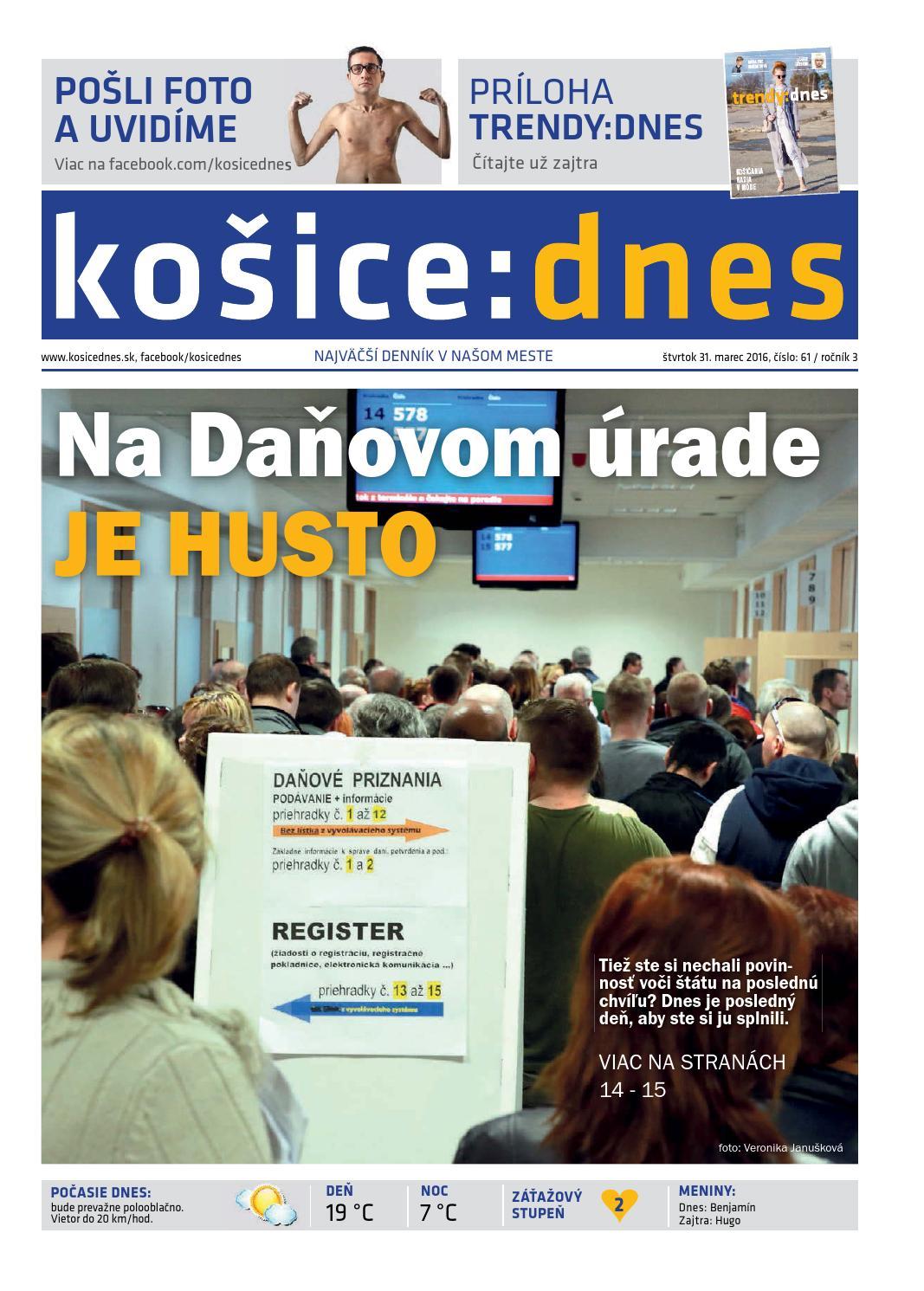 košice dnes 31.3. 2016 by KOŠICE DNES - issuu 805e2bb8800