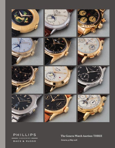 476bc963515a THE GENEVA WATCH AUCTION  THREE  Catalogue  by PHILLIPS - issuu