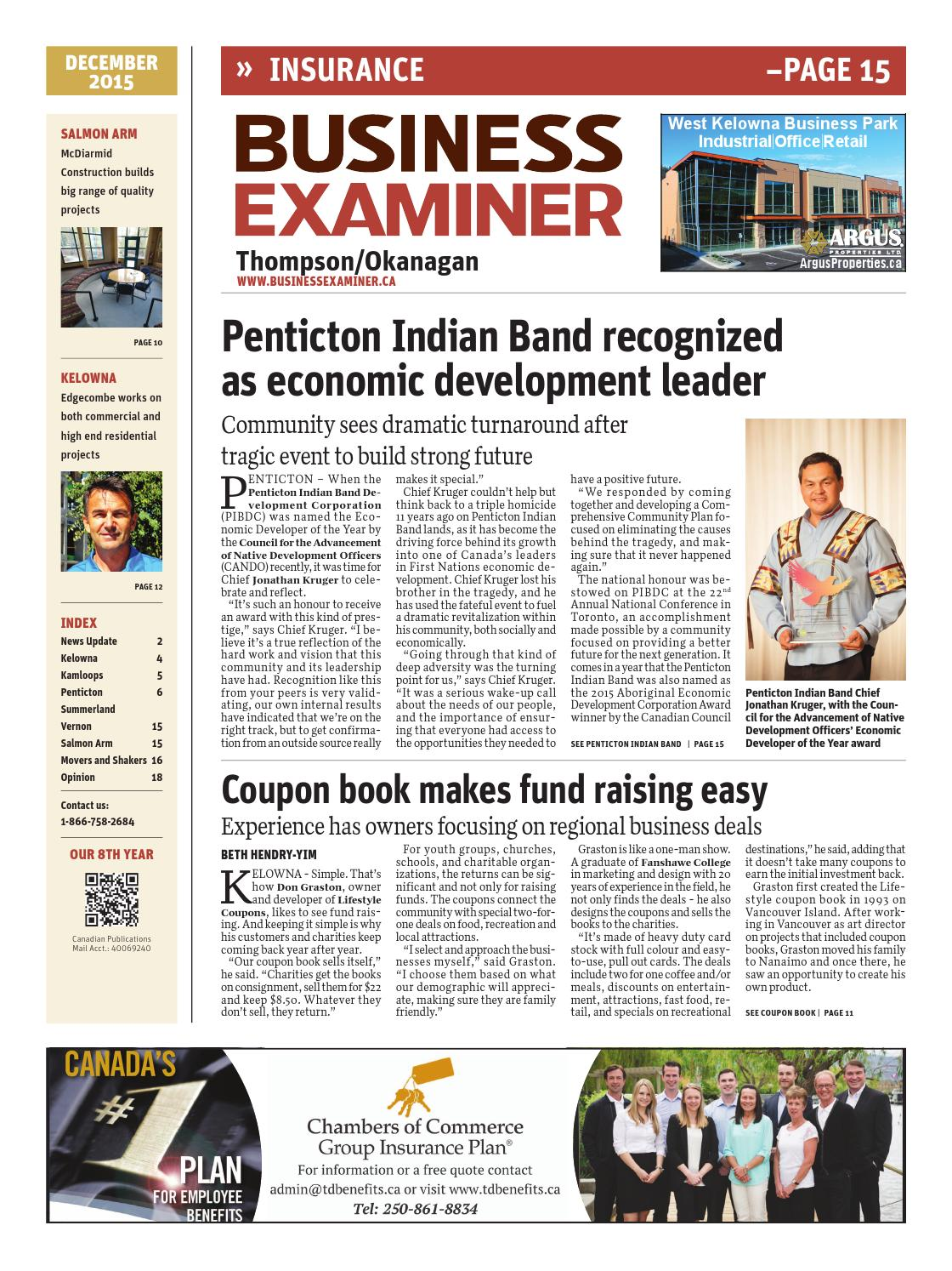 Business Examiner Thompson Okanagan December 2015 By