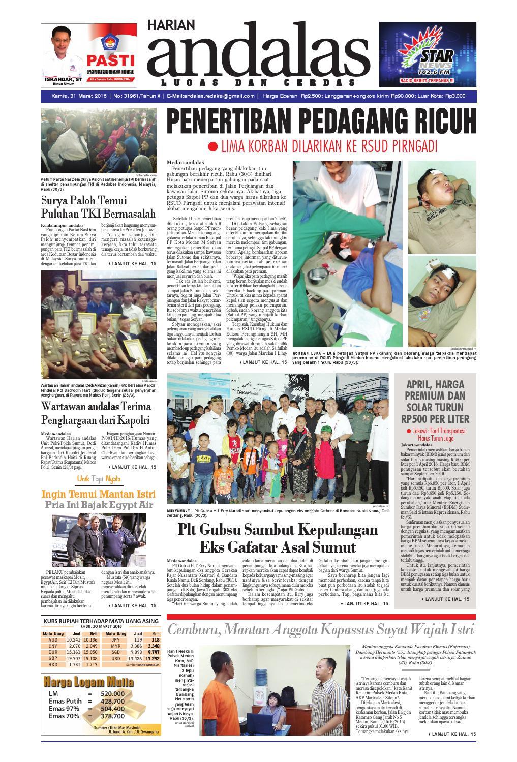 Epaper andalas edisi kamis 31 maret 2016 by media andalas - issuu 4baa2dc650