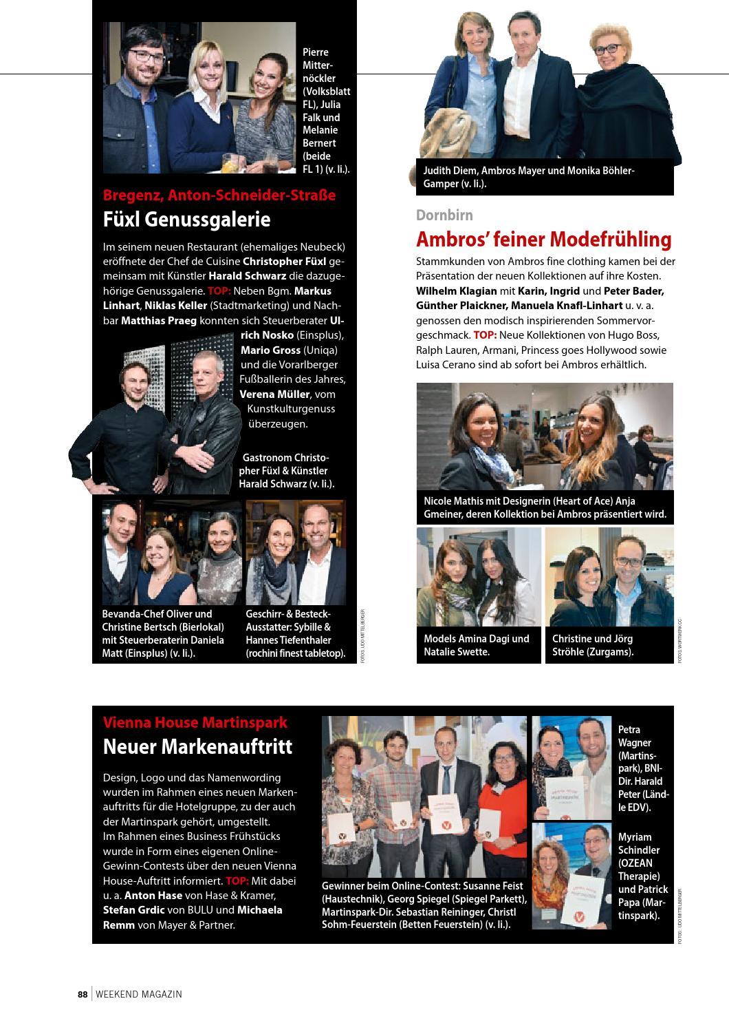Weekend Magazin Vorarlberg 2016 KW 13 by Weekend Magazin Vorarlberg ...