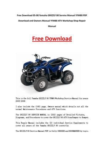 free honda atv shop manuals