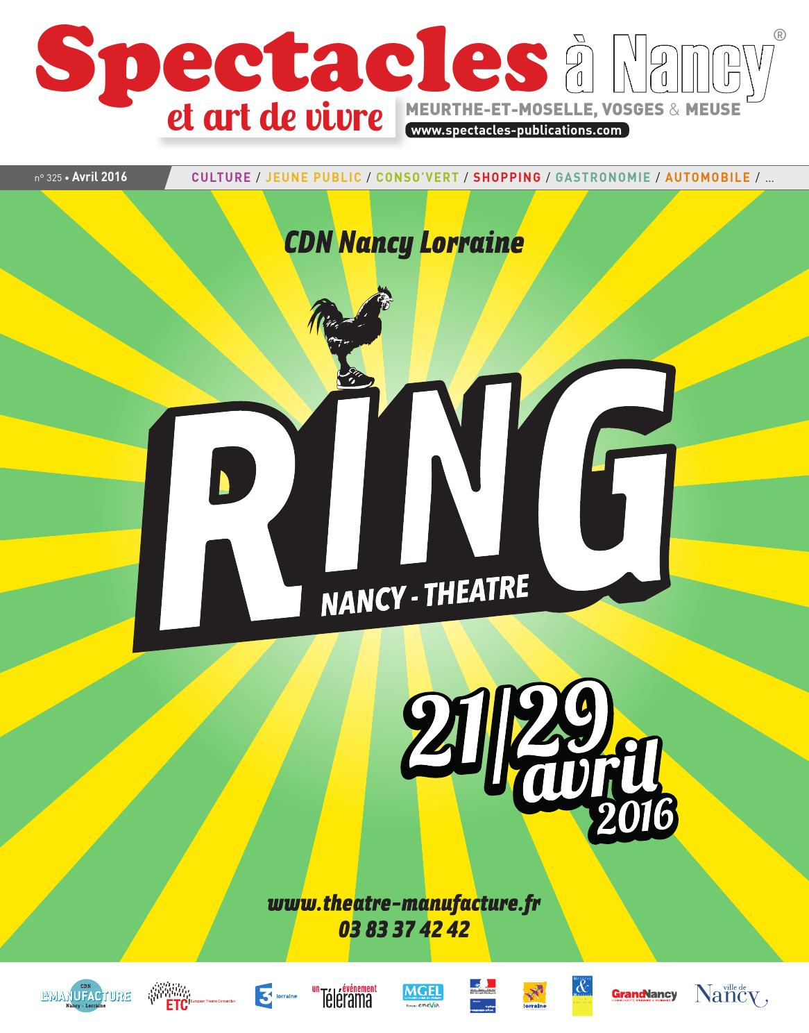 Spectacles Publications Nancy N325 Avril 2016 By