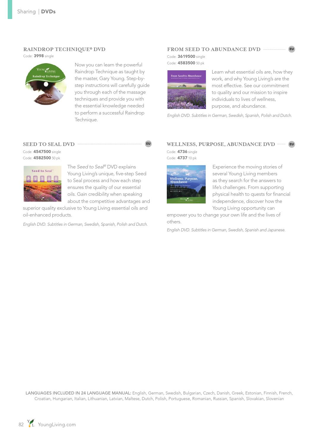Young Living Europe Product Guide | EN by Young Living Essential