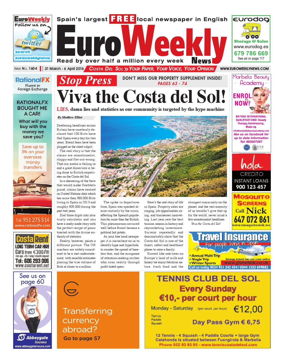 Euro Weekly News Costa Del Sol 31 March 6 April 2016 Issue  # Muebles Rogelio Nerja