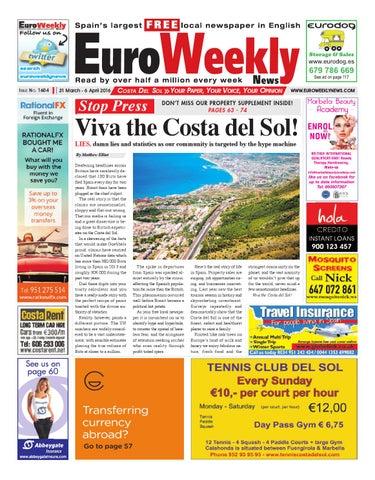 3ba1a20e37b0 Euro Weekly News - Costa del Sol 31 March - 6 April 2016 Issue 1604 ...