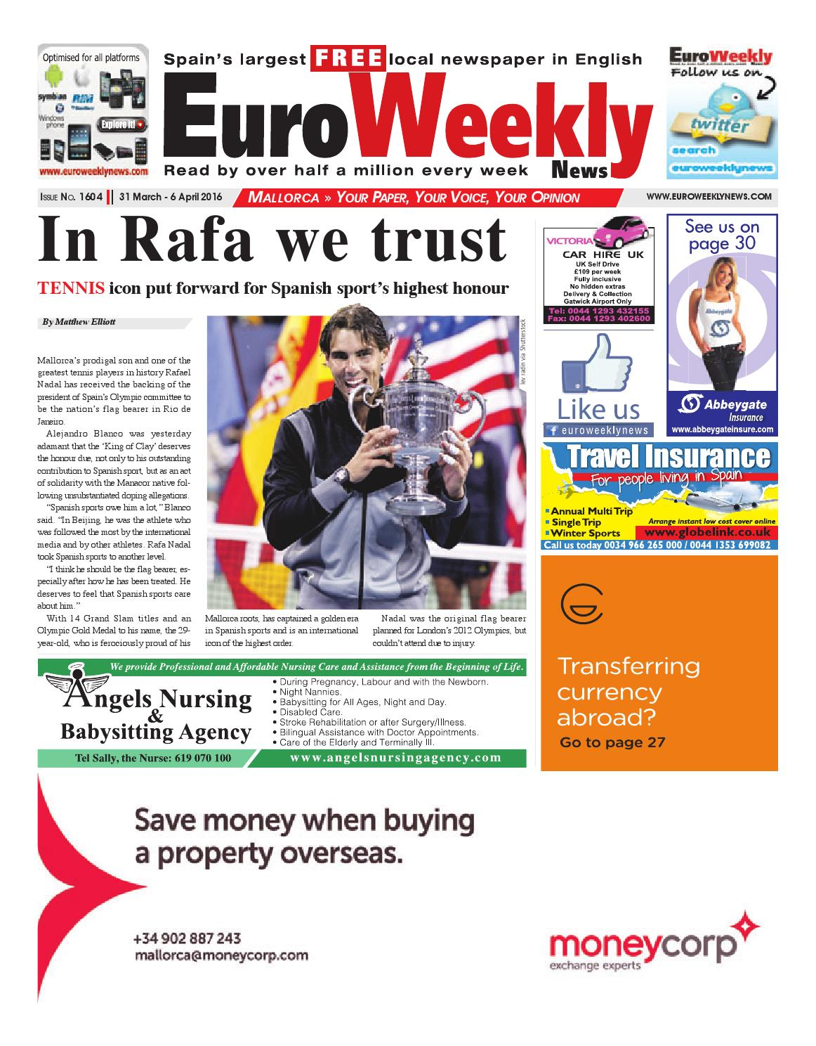 Euro Weekly News Mallorca 31 March 6 April 2016 Issue 1604 By  # Rogelio Muebles San Rafael