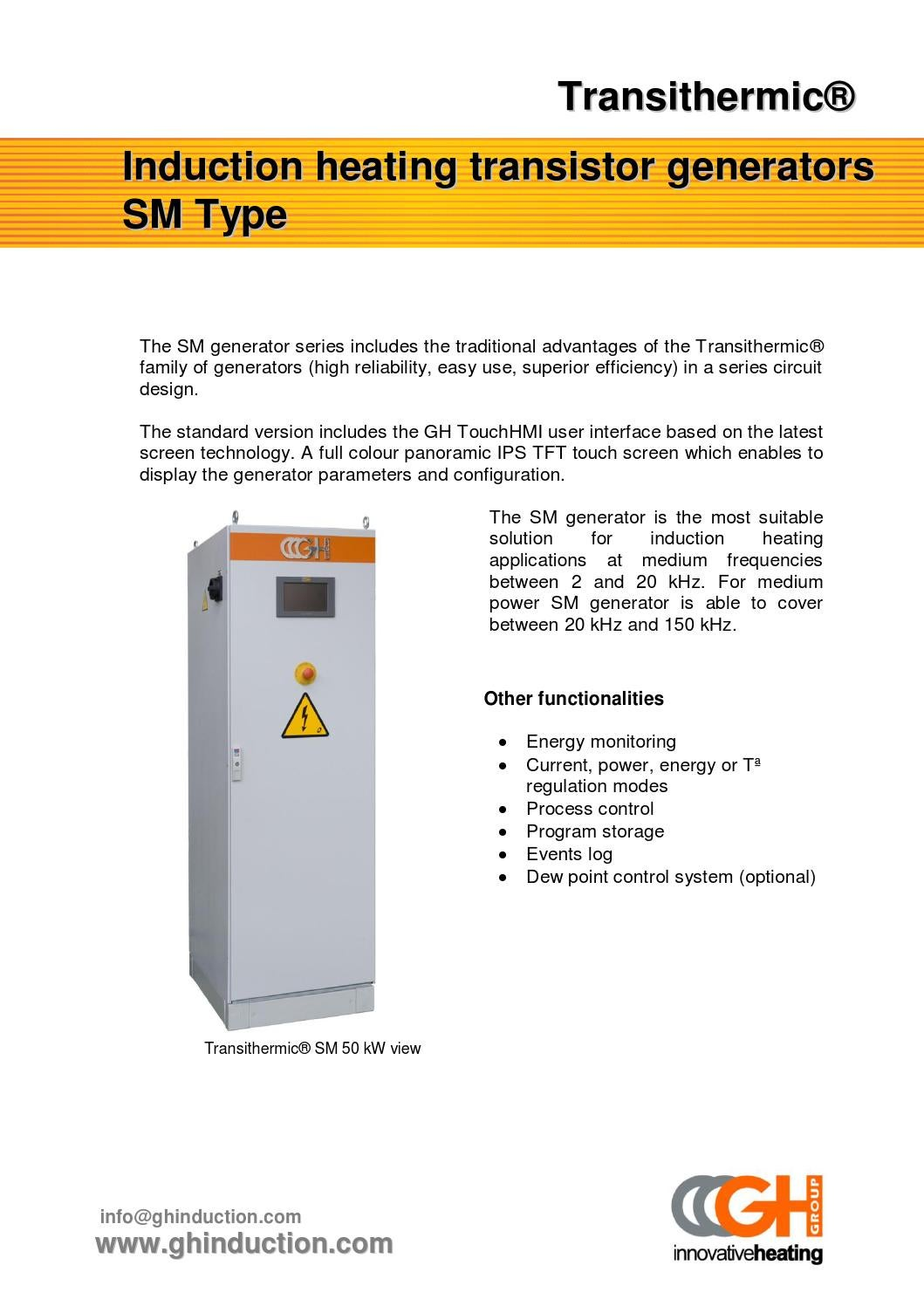 Transthermic Sm By Gh Induction Issuu Uses Of Series Circuit
