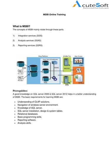 page 1 msbi online training